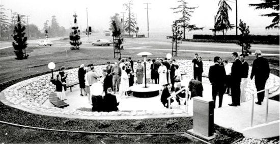 Rotary Plaza Arcadia in 1965
