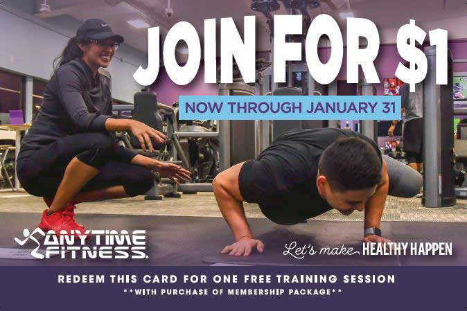 Anytime Fitness join for $1 through Jan 31st