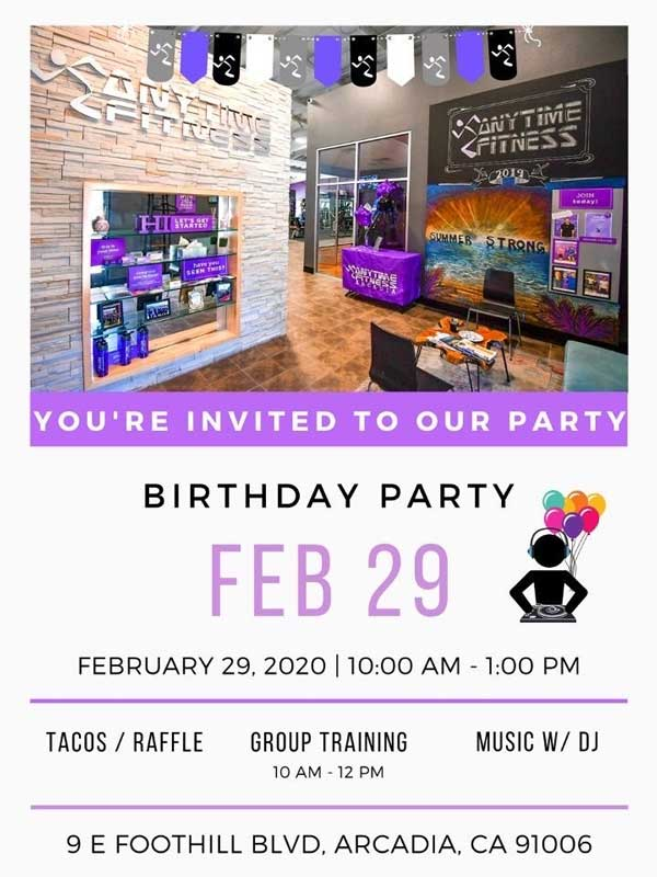 Anytime Fitness Birthday Celebration