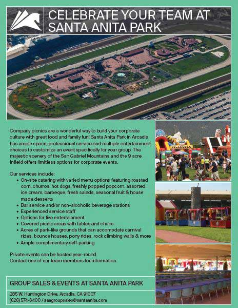 Celebrate Your Team at Santa Anita Park