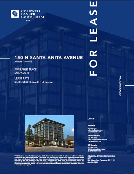 Coldwell Banker Commercial 150 N Santa Anita Ave for lease