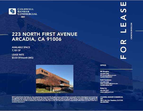Coldwell Banker 223 N First Ave for Lease
