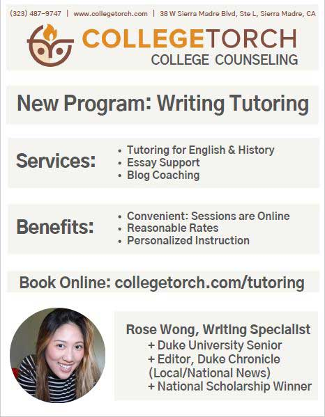 College Torch New Program - Writing Tutoring