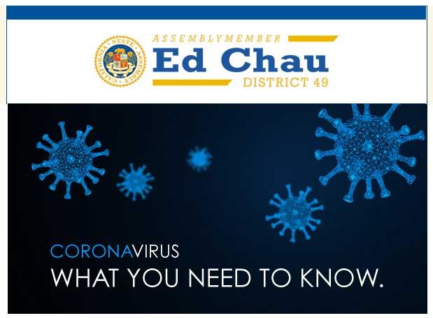 Assemblymember Ed Chau Coronavirus