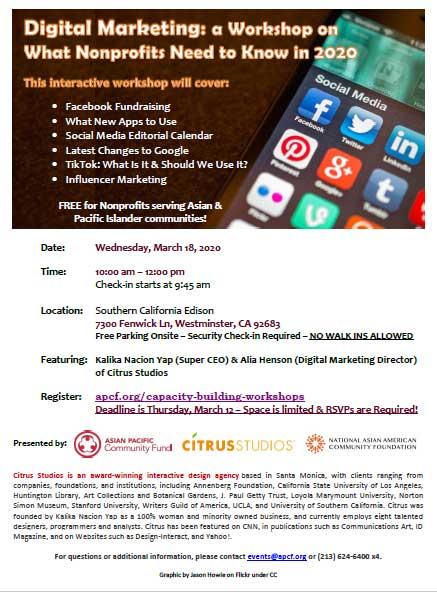 SCE Digital Marketing Workshop for Nonprofits