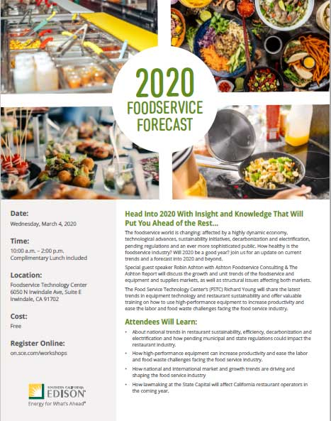 SCE Foodservice Forecast