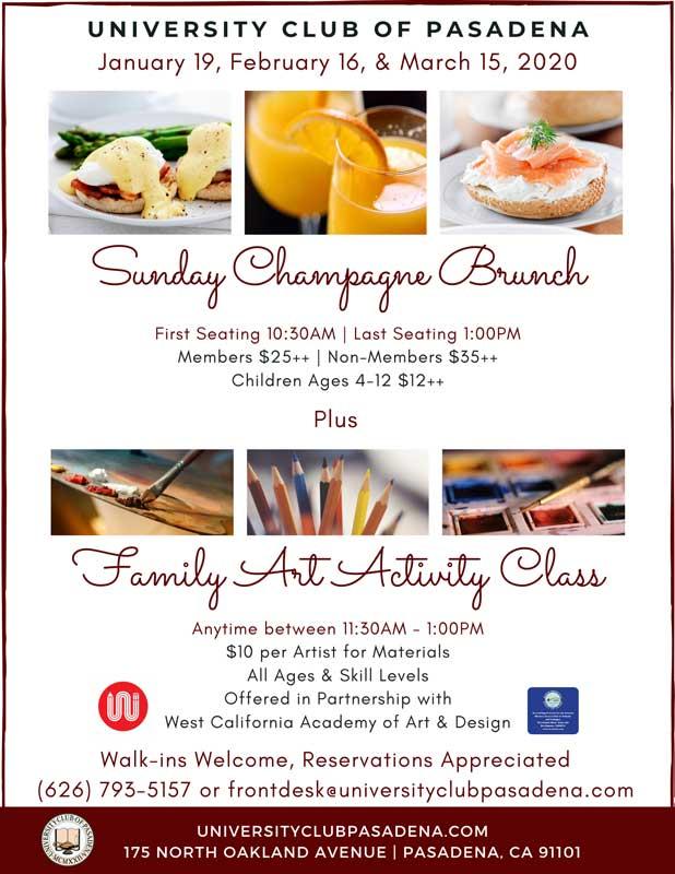 University Club of Pasadena Sunday Champagne Brunch
