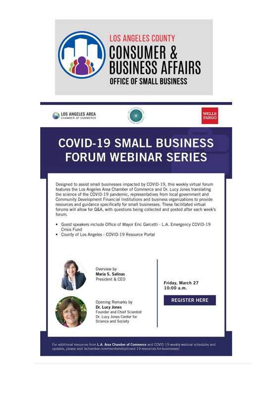 COVID-19 Small Business Forum Webinar