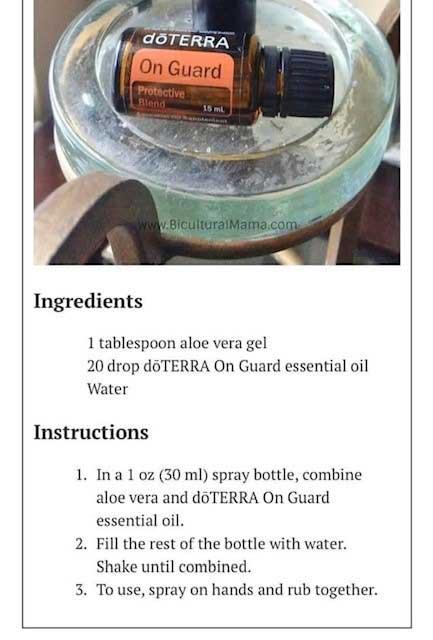 DoTERRA on guard recipe
