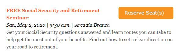 Foothill Credit Union Social Security and Retirement Seminar