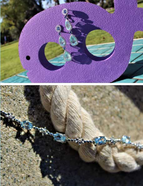 Whale and earrings, rope and bracelet
