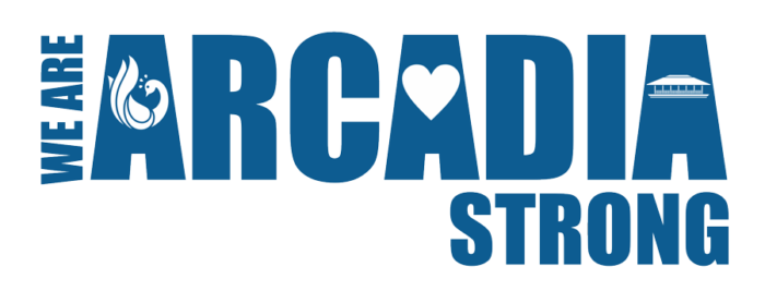 We Are Arcadia Strong Logo