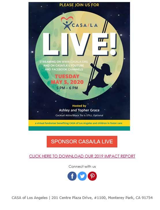 CASA of Los Angeles Virtual Fundraiser