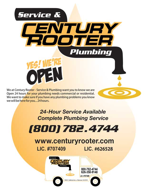 Century Rooter is open to serve you