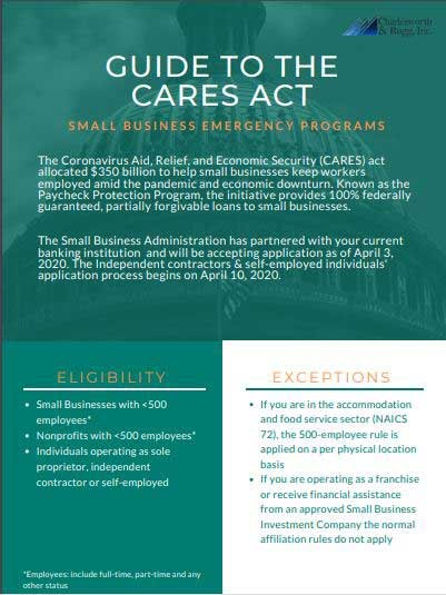 Charlesworth & Rugg guide to CARES Act page 1