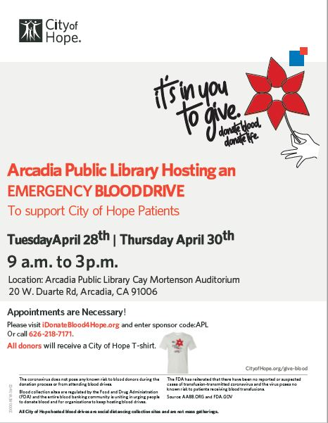 City of Hope Blood Drive