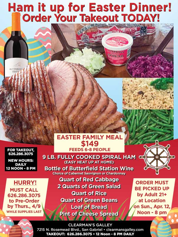 Clearman's Galley Easter Meal Specials