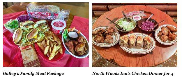 Clearman's Galley and North Woods Inn meal packages