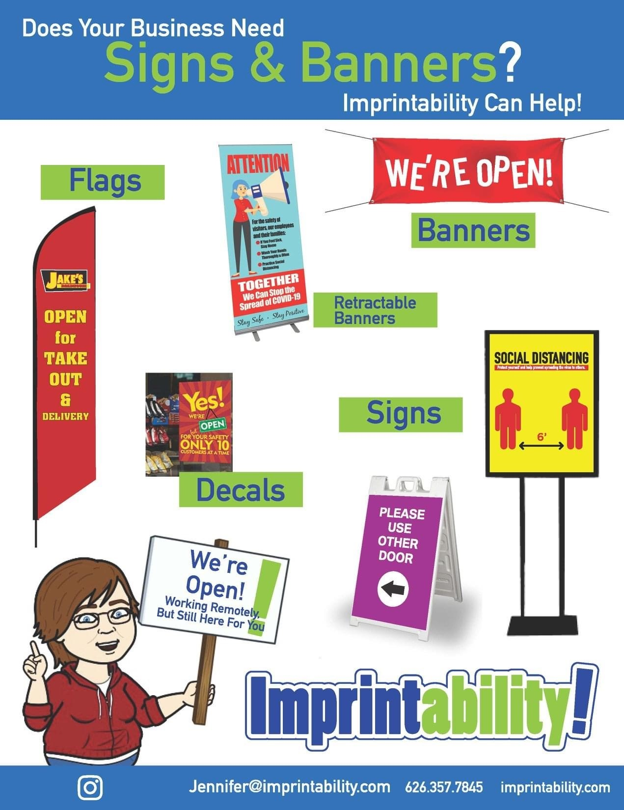 Signs and Banners from Imprintability