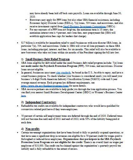 Senator Susan Rubio Small Business Fact Sheet