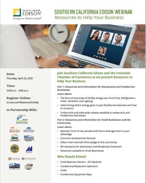 Southern California Edison Webinar Resources to Help Your Business