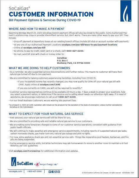SoCalGas Customer Information