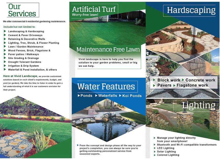 Vivid Landscape services brochure