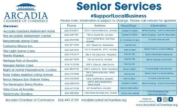Arcadia Chamber Senior Services