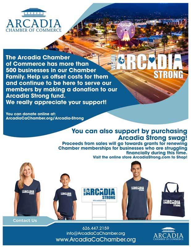 Arcadia Strong fundraising flyer