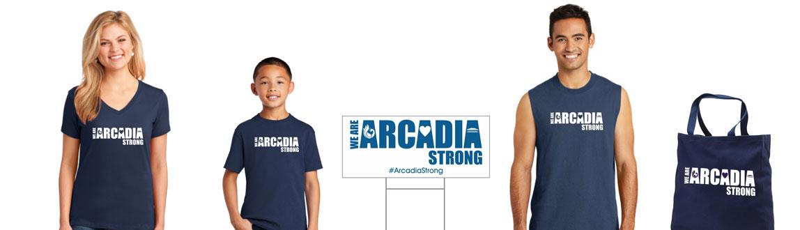 Arcadia Strong merchandise