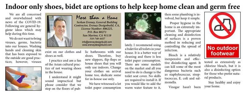 Erenay Design Build tips for clean home