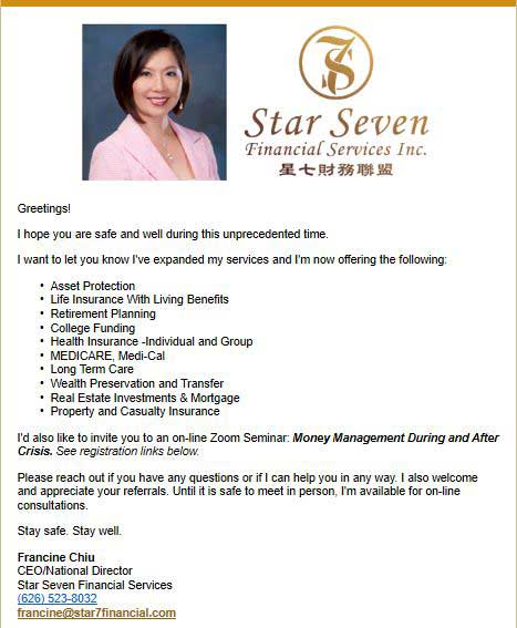 Star 7 Financial Services expanded