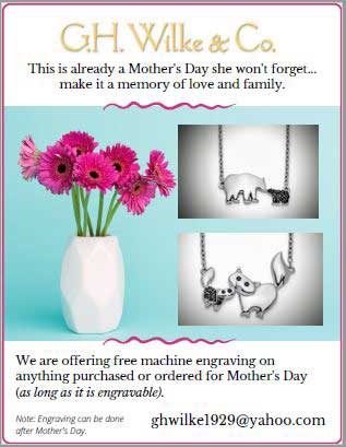 GH WIlke Mother's Day engraving