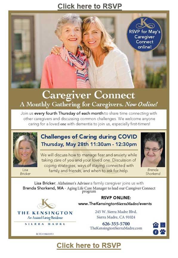 The Kensington Sierra Madre Caregiver Connect