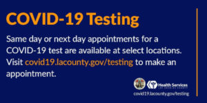 COVID-19 testing sites open
