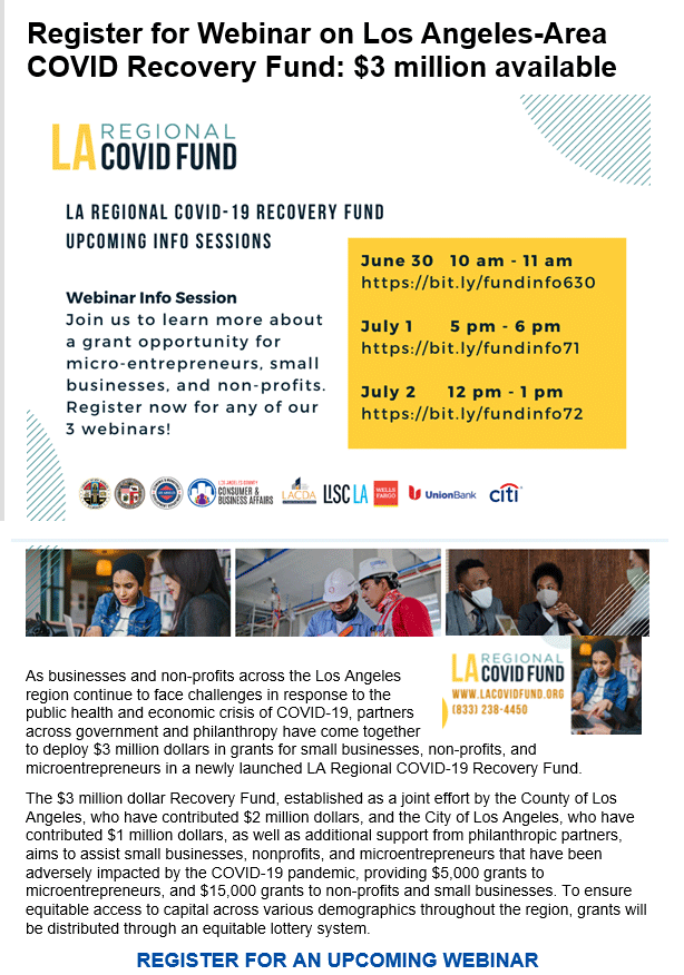 LA County COVID-19 recovery fund webinars