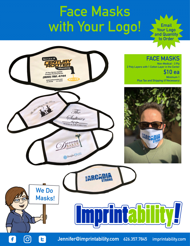 Imprintability has face masks with your logo
