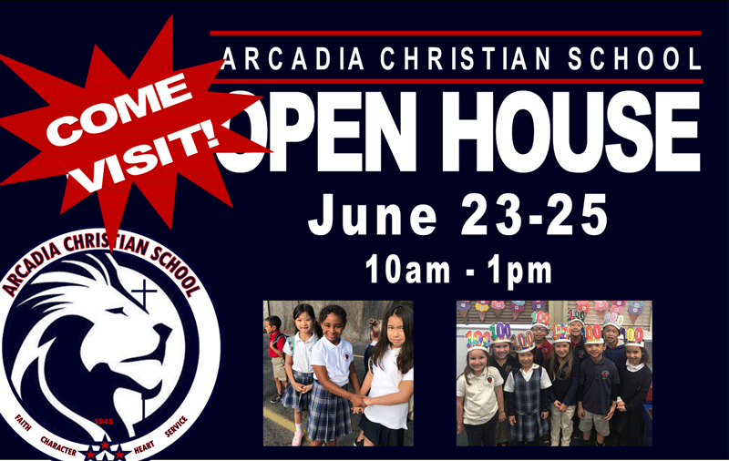 Arcadia Christian School Open House