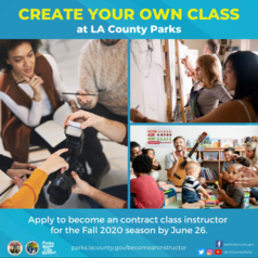 create your own class at LA County parks