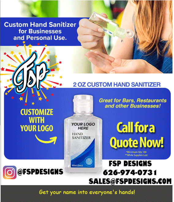 FSP Hand Sanitizer with Your Logo
