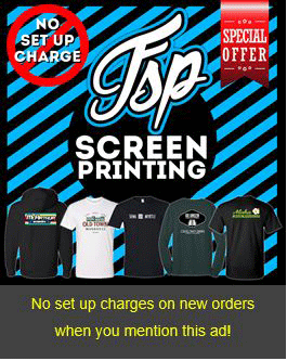 FSP Screen Printing no Set Up Charge