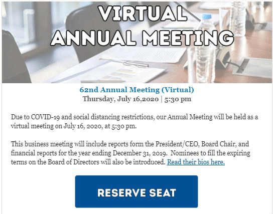 Foothill Credit Union Virtual Meeting