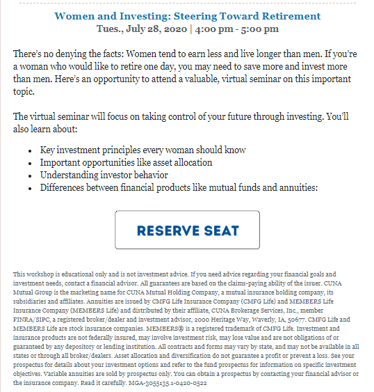 Foothill Credit Union Women and Investing