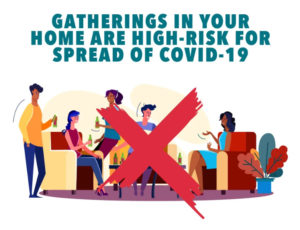 Gatherings in your home are high risk