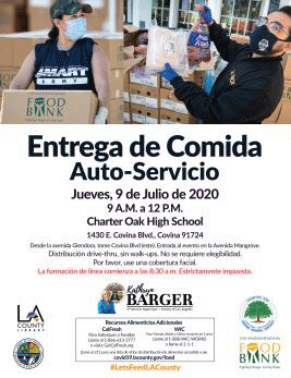 Kathryn Barger Food Drive Spanish Flyer