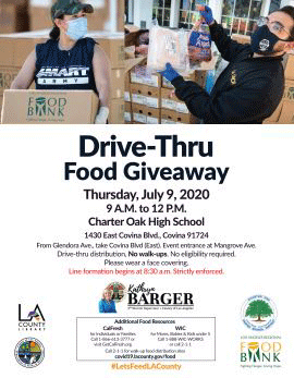 Kathryn Barger Drive-Thru Food Giveaway