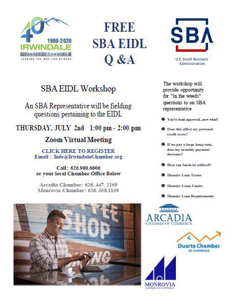 Free SBA EIDL Q&A Workshop