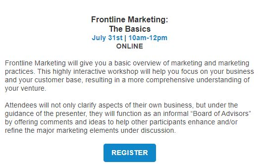 Frontline Marketing the basics webinar