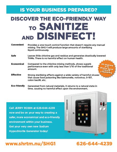 eco-friendly way to sanitize and disinfect