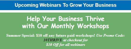 Webinars to help grow your business